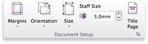 Sibelius 7 Document Setup group